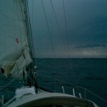 Approaching Gilleleje in some weather
